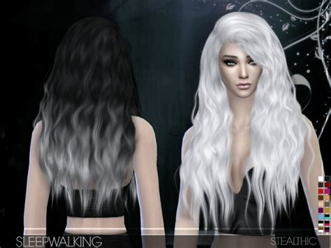 Stealthic: Sleepwalking hairstyle ~ Sims 4 Hairs