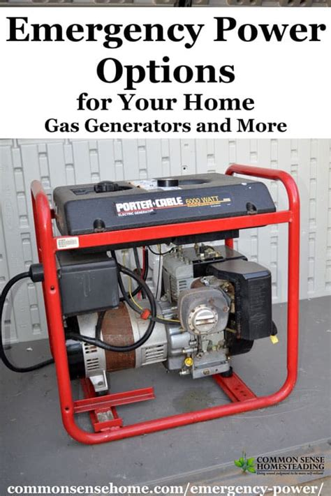 Emergency Power Options for Your Home - Gas Generators and