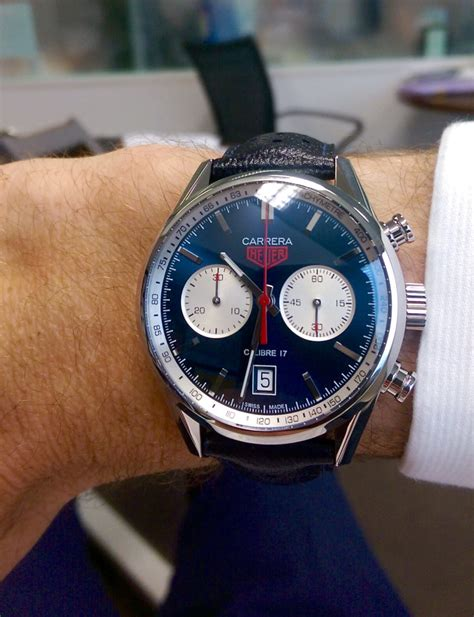 First Look: TAG Heuer Carrera Calibre 17 Blue Dial (Ref