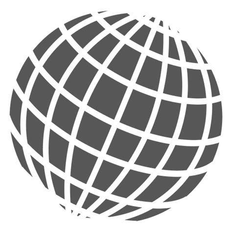 Grid on globe icon - Transparent PNG & SVG vector file