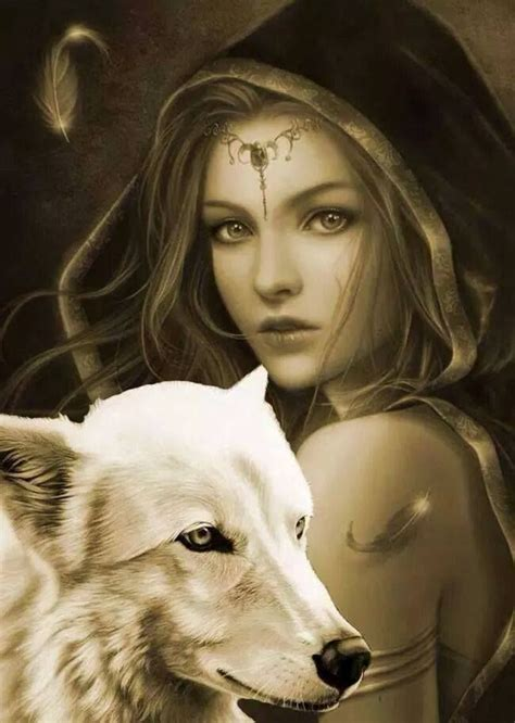 Pin by Cindy on Wicca   Wolves and women, Fantasy wolf
