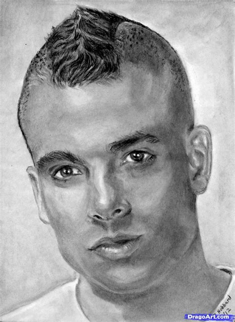 How to Draw Mark Salling, Glee, Step by Step, Portraits