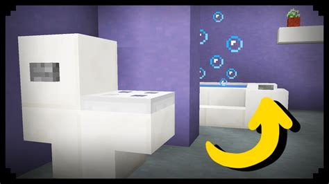 Minecraft: How to make a Working Bathroom - YouTube