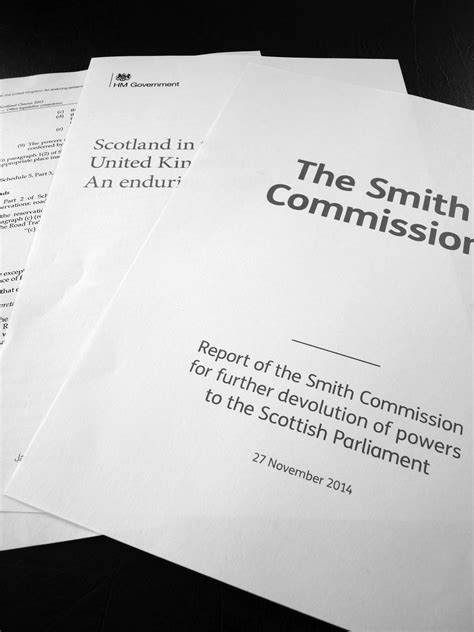 The Smith Commission Report – buying the Great SNP Bluff