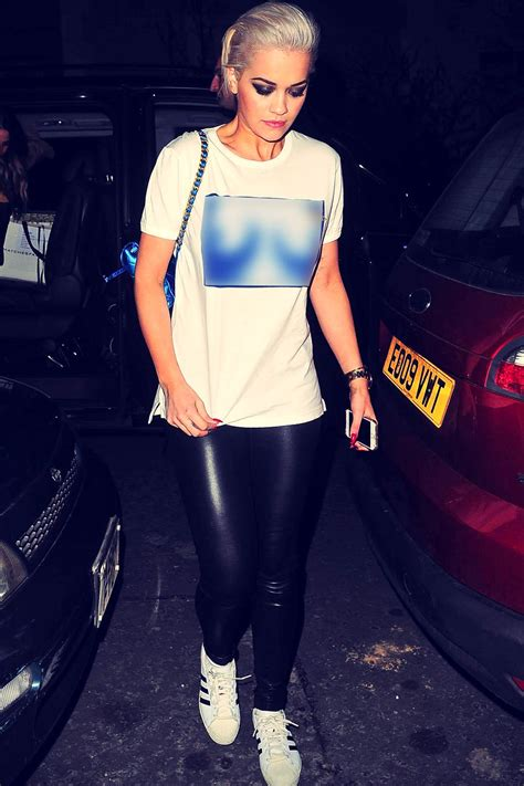 Rita Ora arriving at her home in London - Leather Celebrities